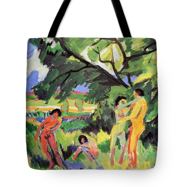 Nudes Playing Under Tree Tote Bag