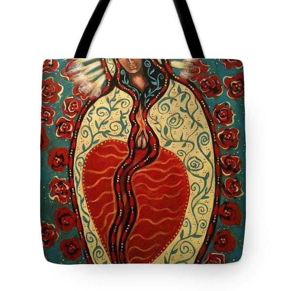 Nuestra Senora De Guadalupe Tote Bag by Maya Telford