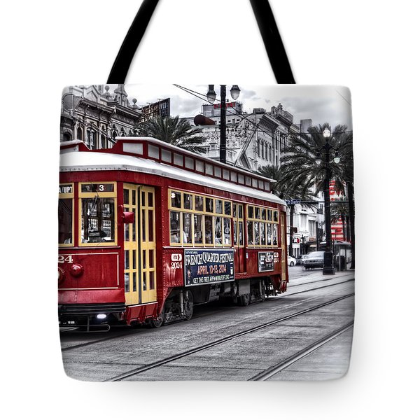 Tote Bag featuring the photograph Number 2024 Trolley by Tammy Wetzel