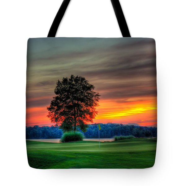 Number 4 The Landing Tote Bag