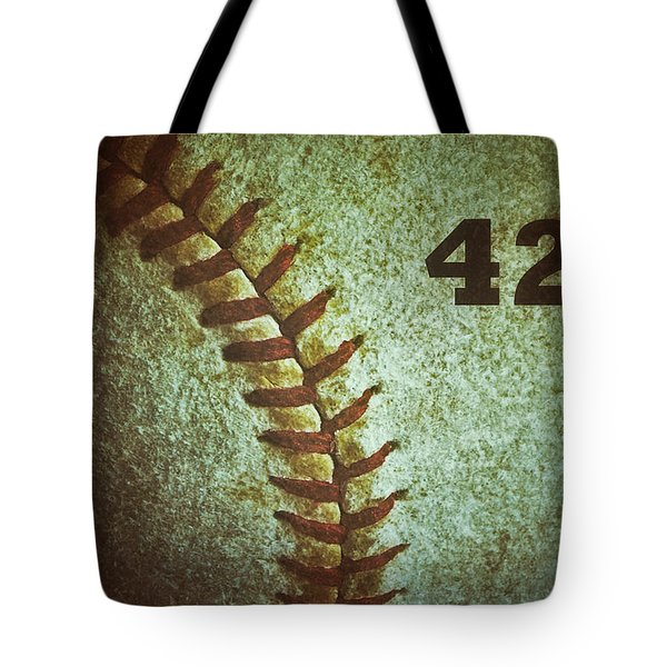 Number 42 Tote Bag by Bill Owen
