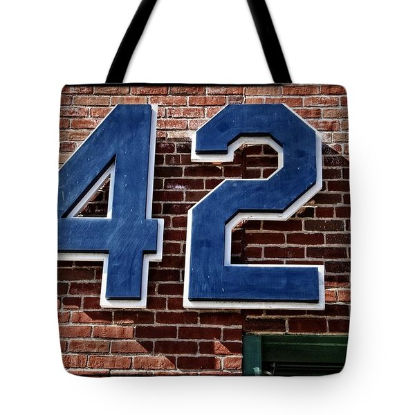 Number Forty Two Tote Bag by Alice Gipson