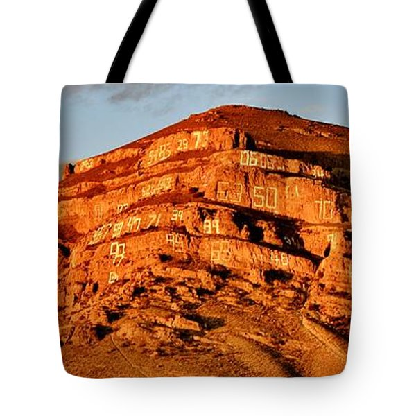 Tote Bag featuring the photograph Number Hill by Benjamin Yeager