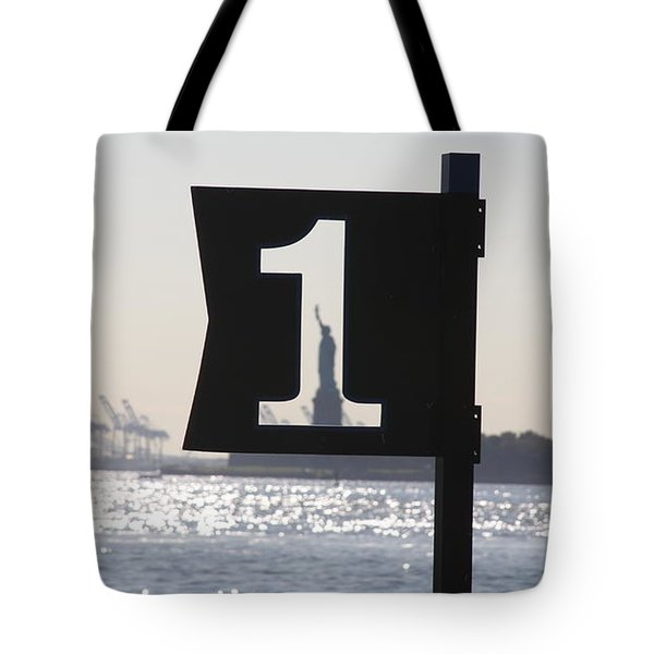 Number One Tote Bag by Vadim Levin