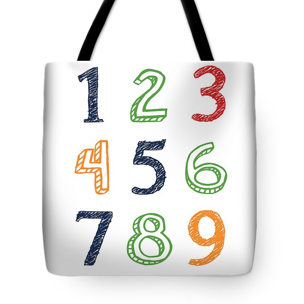 Tote Bag featuring the digital art Numbers 123 by Jaime Friedman