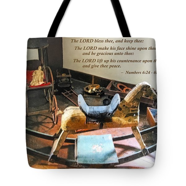 Numbers 6 24-26 The Lord Bless Thee And Keep Thee Tote Bag by Susan Savad