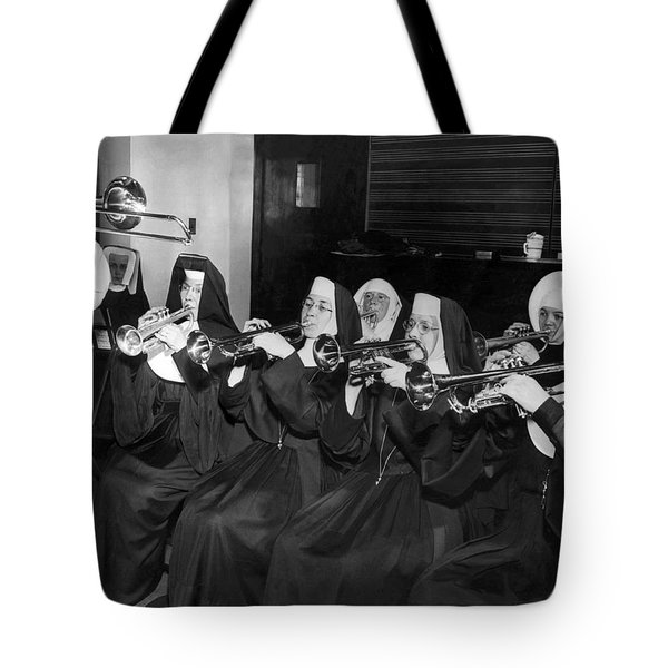 Nuns Rehearse For Concert Tote Bag