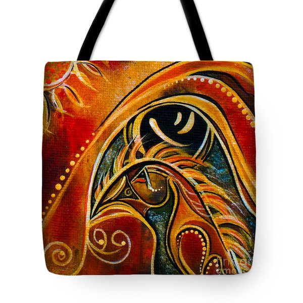 Nurturer Spirit Eye Tote Bag by Deborha Kerr
