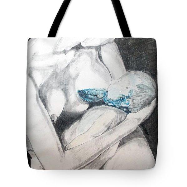 Tote Bag featuring the painting Nurturing The Sea by Lazaro Hurtado