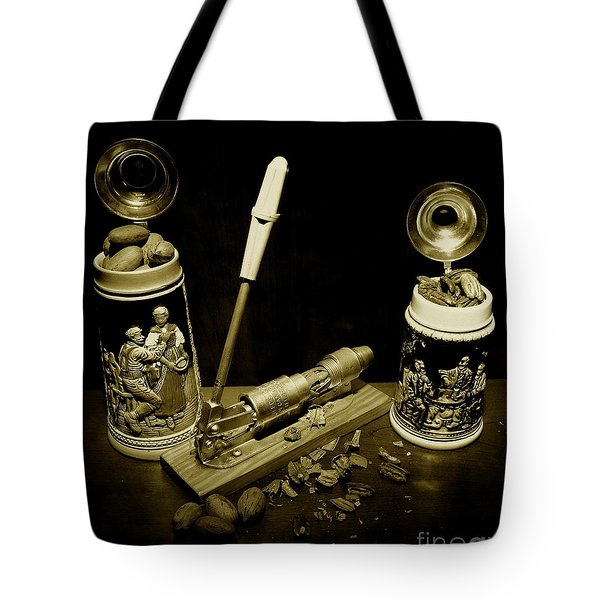Nut Cracker With Steins Tote Bag