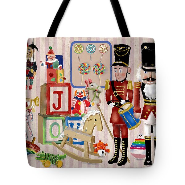 Tote Bag featuring the digital art Nutcracker And Friends by Arline Wagner