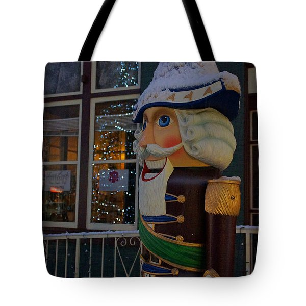 Nutcracker Statue In Downtown Grants Pass Tote Bag by Mick Anderson