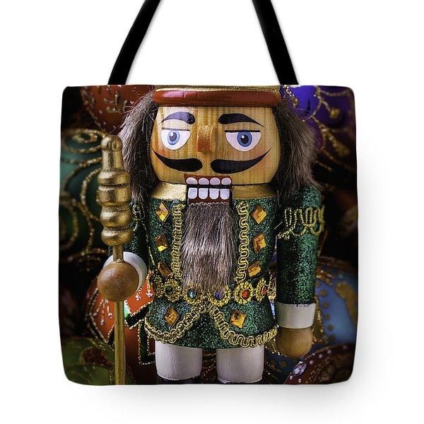 Nutcracker With Ornaments Tote Bag