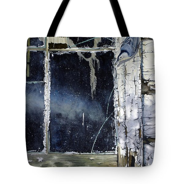 Nuthatch And Window Tote Bag