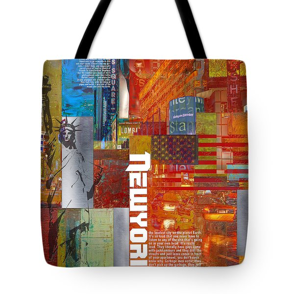 Ny City Collage 3 Tote Bag by Corporate Art Task Force