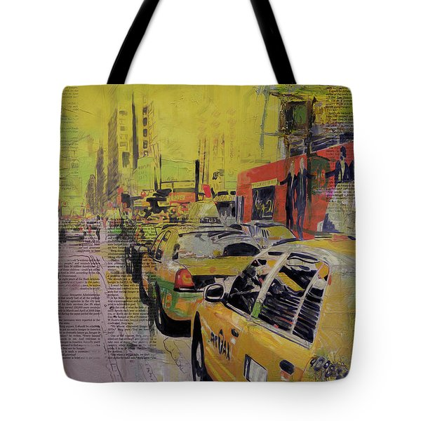 Ny City Collage Tote Bag by Corporate Art Task Force