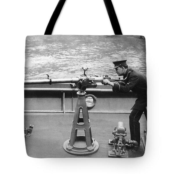 Ny Police Boat Patrol Tote Bag