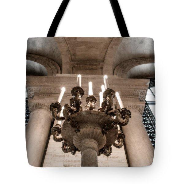 Ny Public Library Candelabra Tote Bag