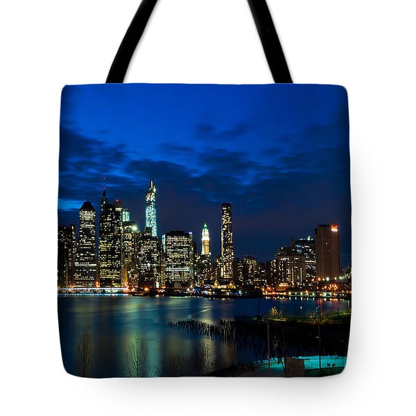 Ny Skyline From Brooklyn Heights Promenade Tote Bag