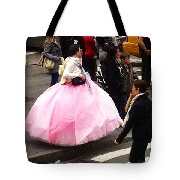 Nyc Ball Gown Walk Tote Bag by Susan Garren