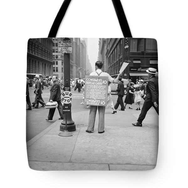 Nyc Corner Vendor Tote Bag