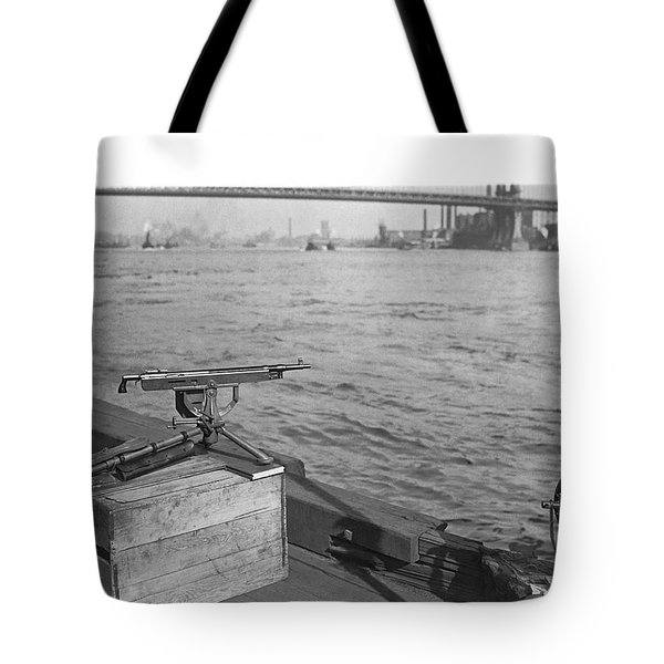 Nyc Prohibition Police Boat Tote Bag by Underwood Archives
