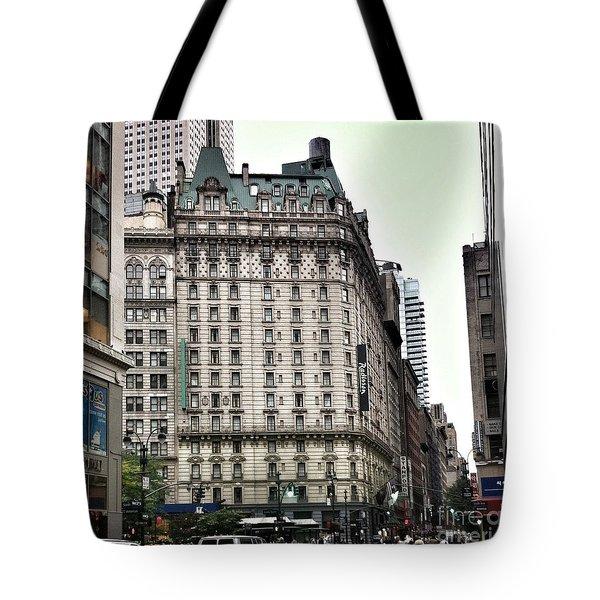 Nyc Radisson Hotel Tote Bag by Susan Garren