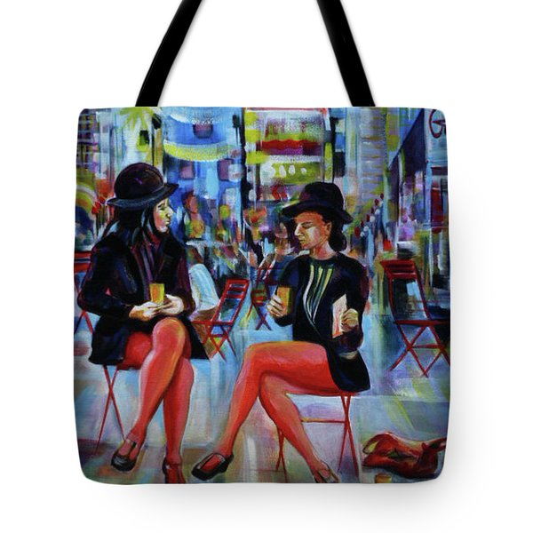 Nyc Red Chairs Tote Bag by Anna  Duyunova