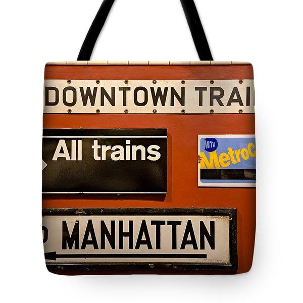 Nyc Subway Signs Tote Bag