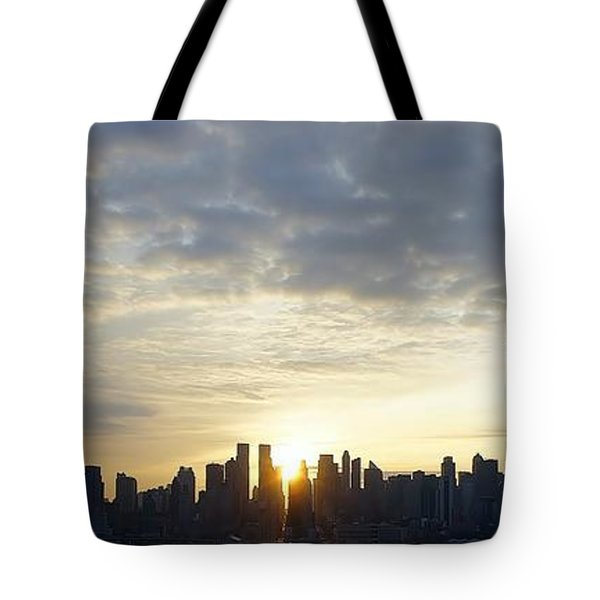 Nyc Sunrise Panorama Tote Bag