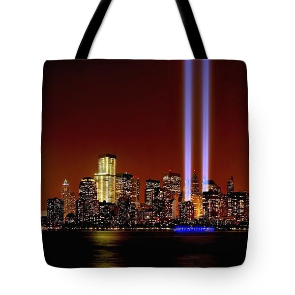 Nyc Tribute In Light 2013 Tote Bag by Nick Zelinsky
