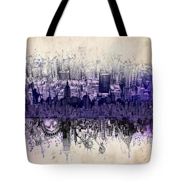 Nyc Tribute Skyline 2 Tote Bag