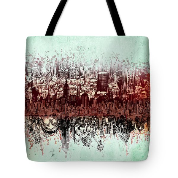 Nyc Tribute Skyline 3 Tote Bag