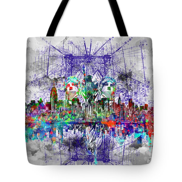 Nyc Tribute Skyline 4 Tote Bag