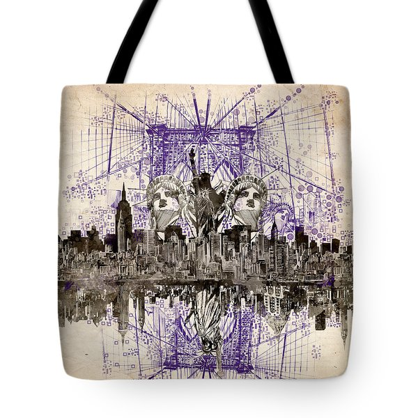 Nyc Tribute Skyline 5 Tote Bag