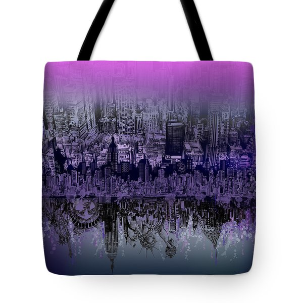 Nyc Tribute Skyline Tote Bag