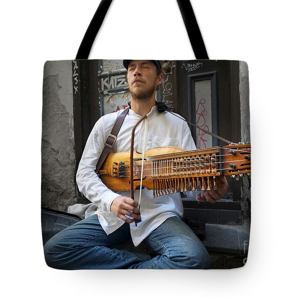 Nyckelharpa Player Of Estonia Tote Bag by Martin Konopacki