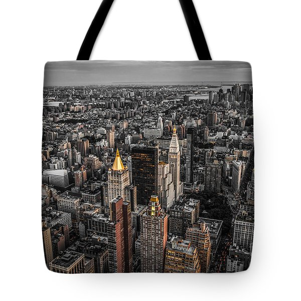 Nycs Golden Tops Tote Bag by Hannes Cmarits