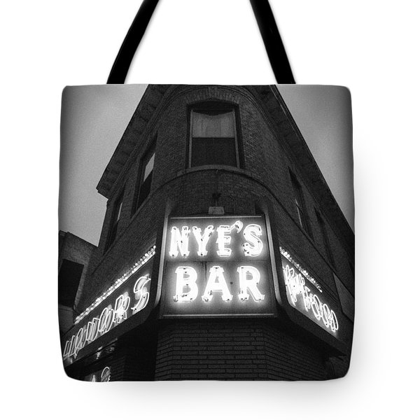 Nye's In Black And White Tote Bag