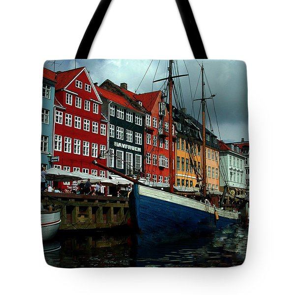 Tote Bag featuring the photograph Nyhavn Copenhagen by Colette V Hera  Guggenheim