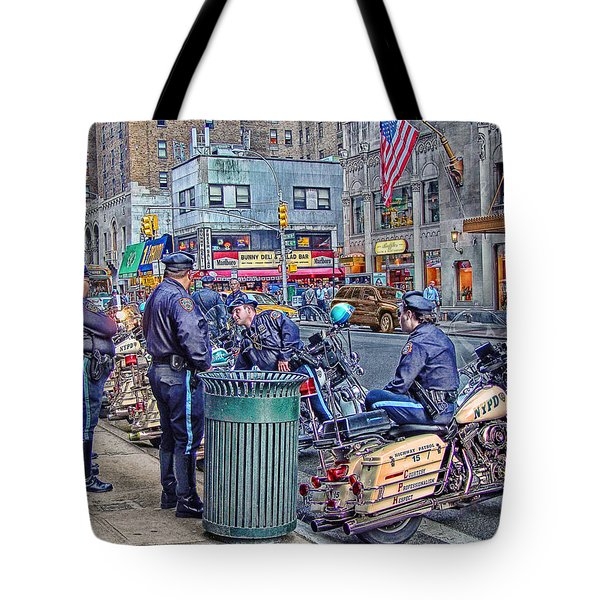 Nypd Highway Patrol Tote Bag by Ron Shoshani