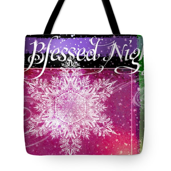 O Blessed Night Greeting Tote Bag