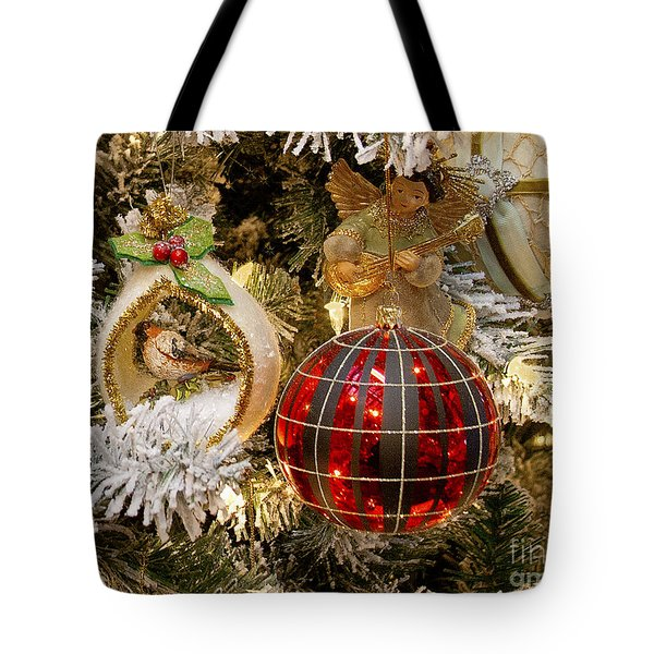Tote Bag featuring the photograph O Christmas Tree by Victoria Harrington