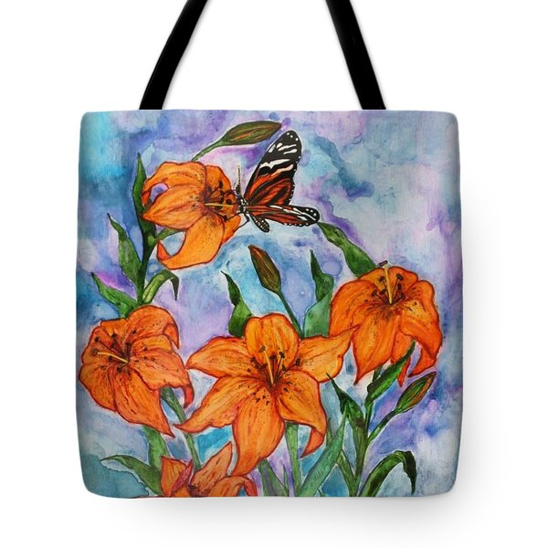 O Tiger Lily Tote Bag by Janet Immordino