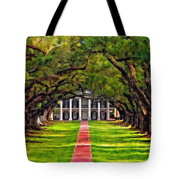 Oak Alley Paint Version Tote Bag by Steve Harrington
