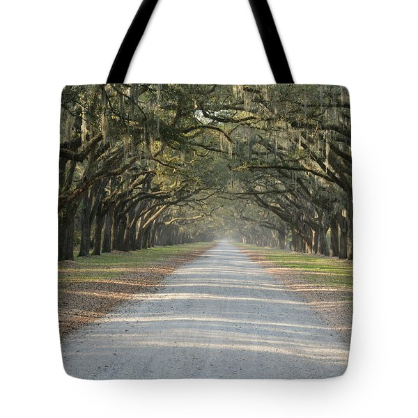 Tote Bag featuring the photograph Oak Avenue by Bradford Martin