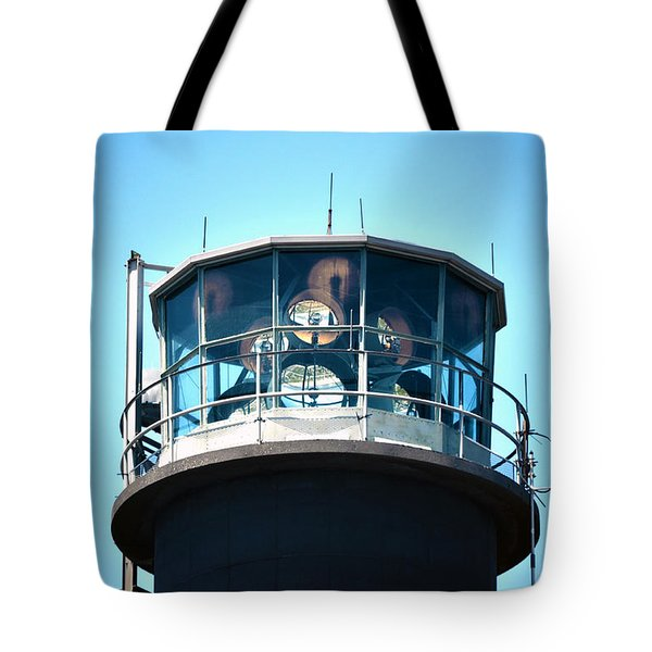Oak Island Lighthouse Beacon Lights Tote Bag by Sandi OReilly