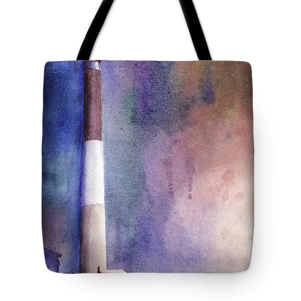 Oak Island Lighthouse Tote Bag by Ryan Fox