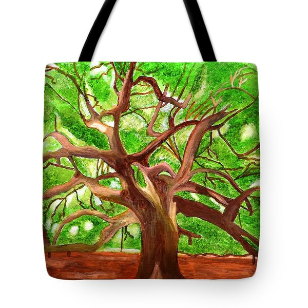 Tote Bag featuring the painting Oak Tree by Magdalena Frohnsdorff