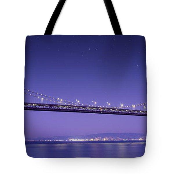 Oakland Bay Bridge Tote Bag by Aged Pixel